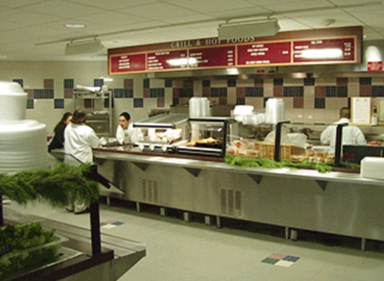 cafeteria hot foods counter