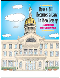 Cover of How a Bill Becomes a Law in New Jersey Brochure