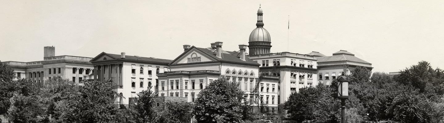 State House in black and white