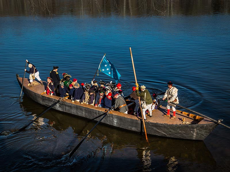 Local Attractions: Washington Crossing Reenactment
