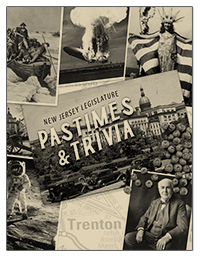 cover of pastimes and trivia booklet