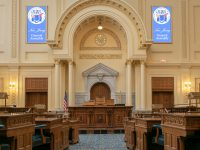 Photo of the General Assembly Chamber at the New Jersey State House