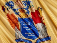 Close up of the New Jersey State Flag