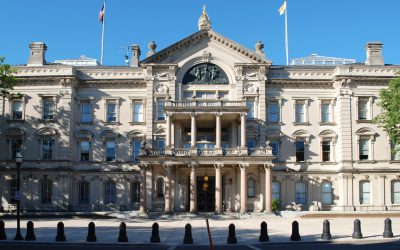 Virtual Classroom Snapshot - Front of the New Jersey State House