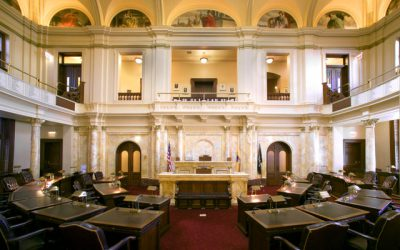 Virtual Classroom Snapshot - Inside of the Senate Chamber at the New Jersey State House